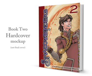 Shadowbinders Book Two hardcover graphic novel printed by PrintNinja