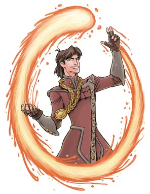 Mage Crimson Rhen from the Shadowbinders webcomic