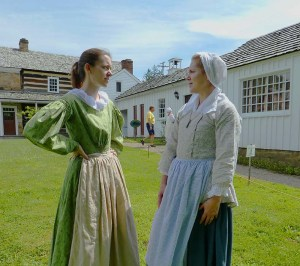 Mallory and Joanna in period costume