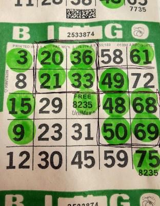 Joanna won $40 at postage stamp bingo!
