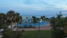 Beautiful park along the water