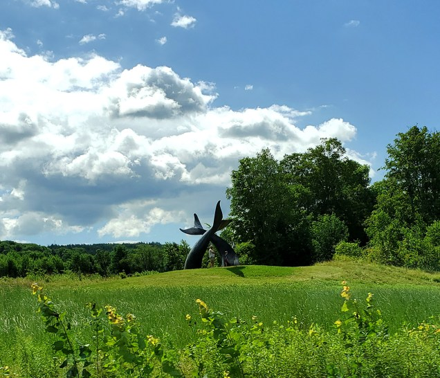 Whale's Tails Sculpture in Braintree, VT