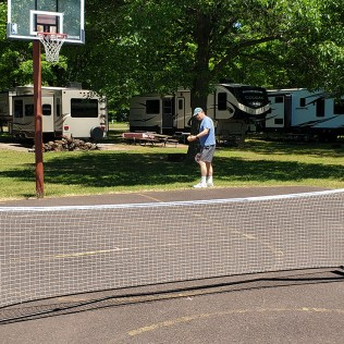 Creating our own pickleball court!