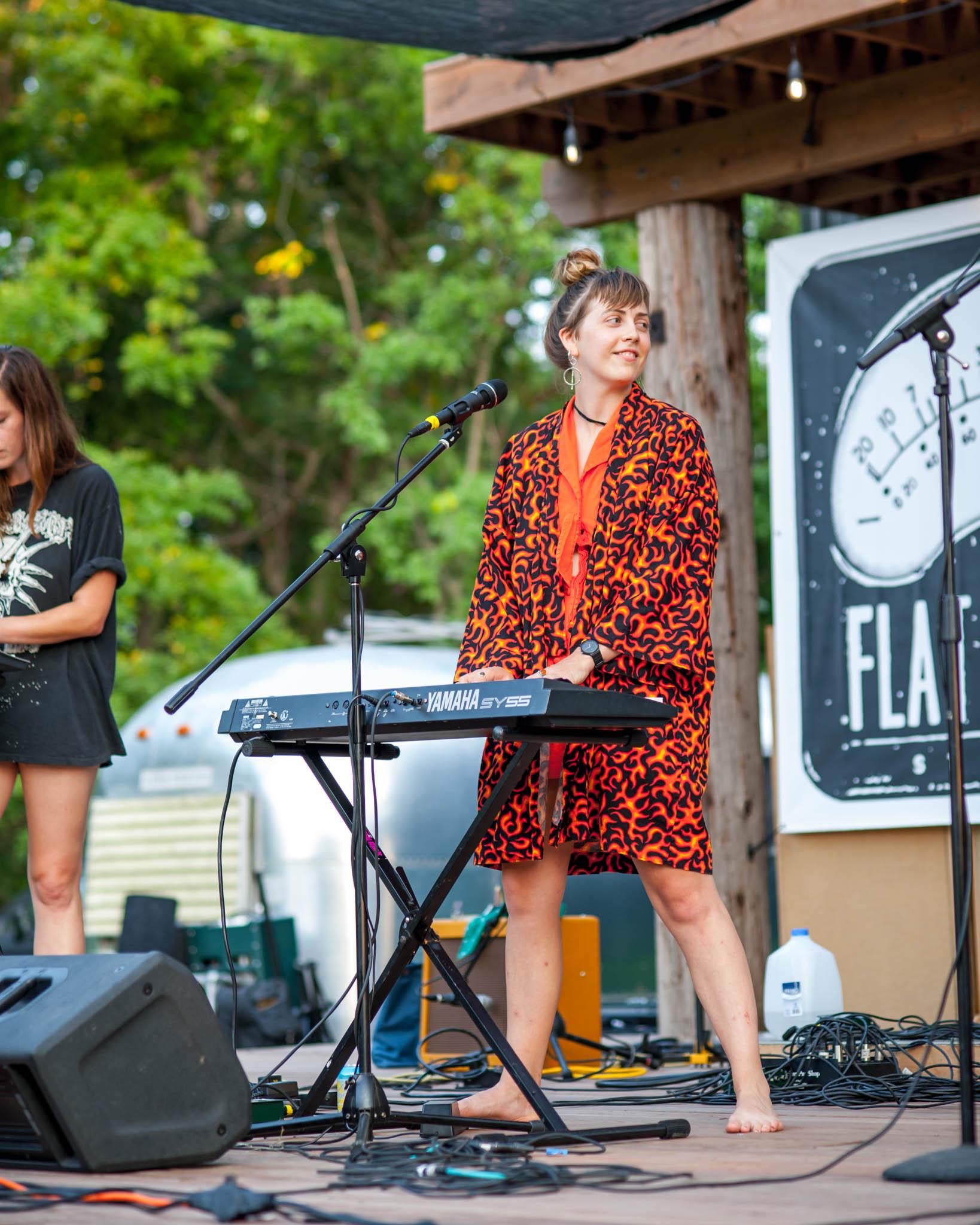 Annalibera playing at Grey Area 2018 at Flat Black Studios near Iowa City