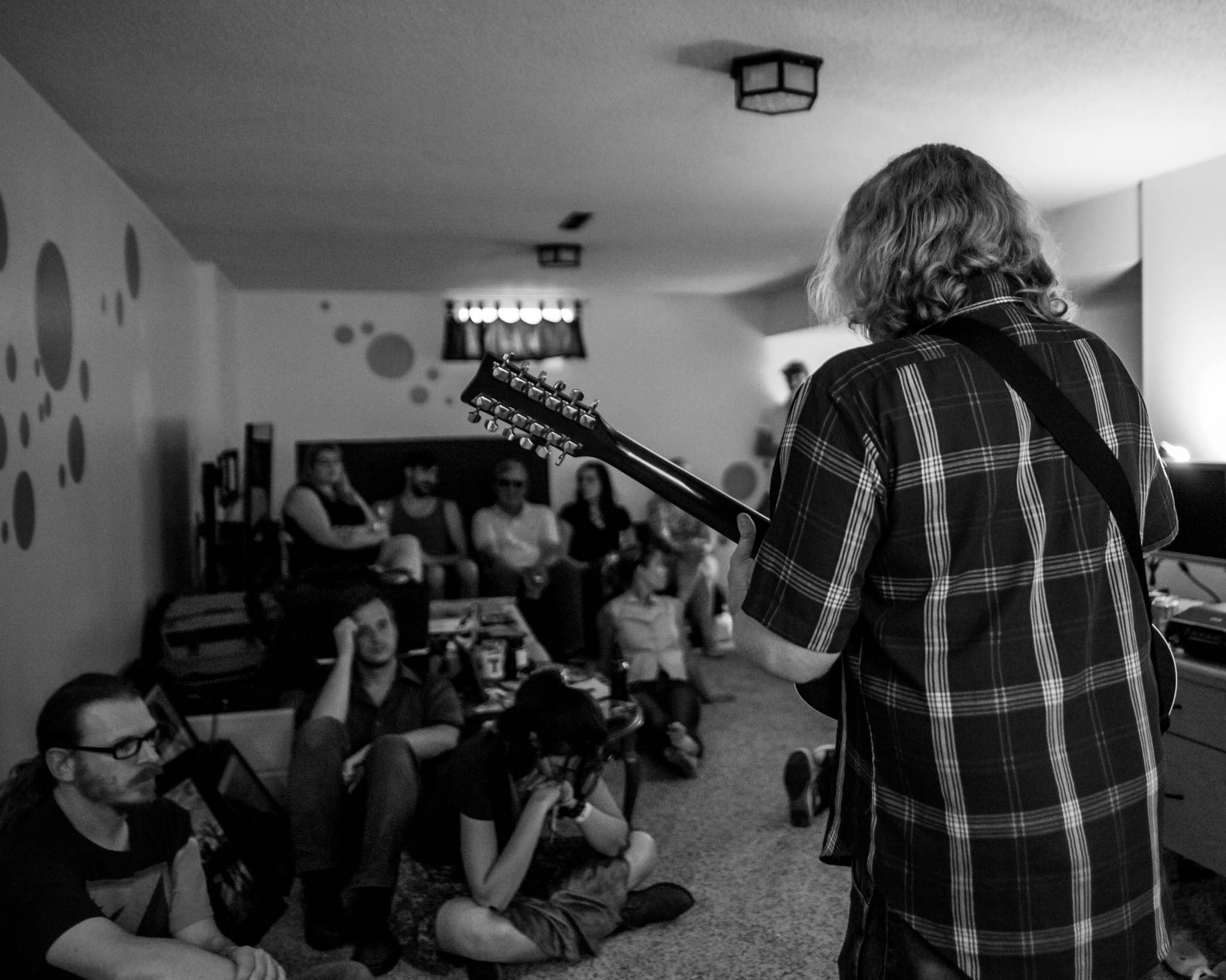 Levi Zinser playing at our house show in Cedar Rapids, Iowa