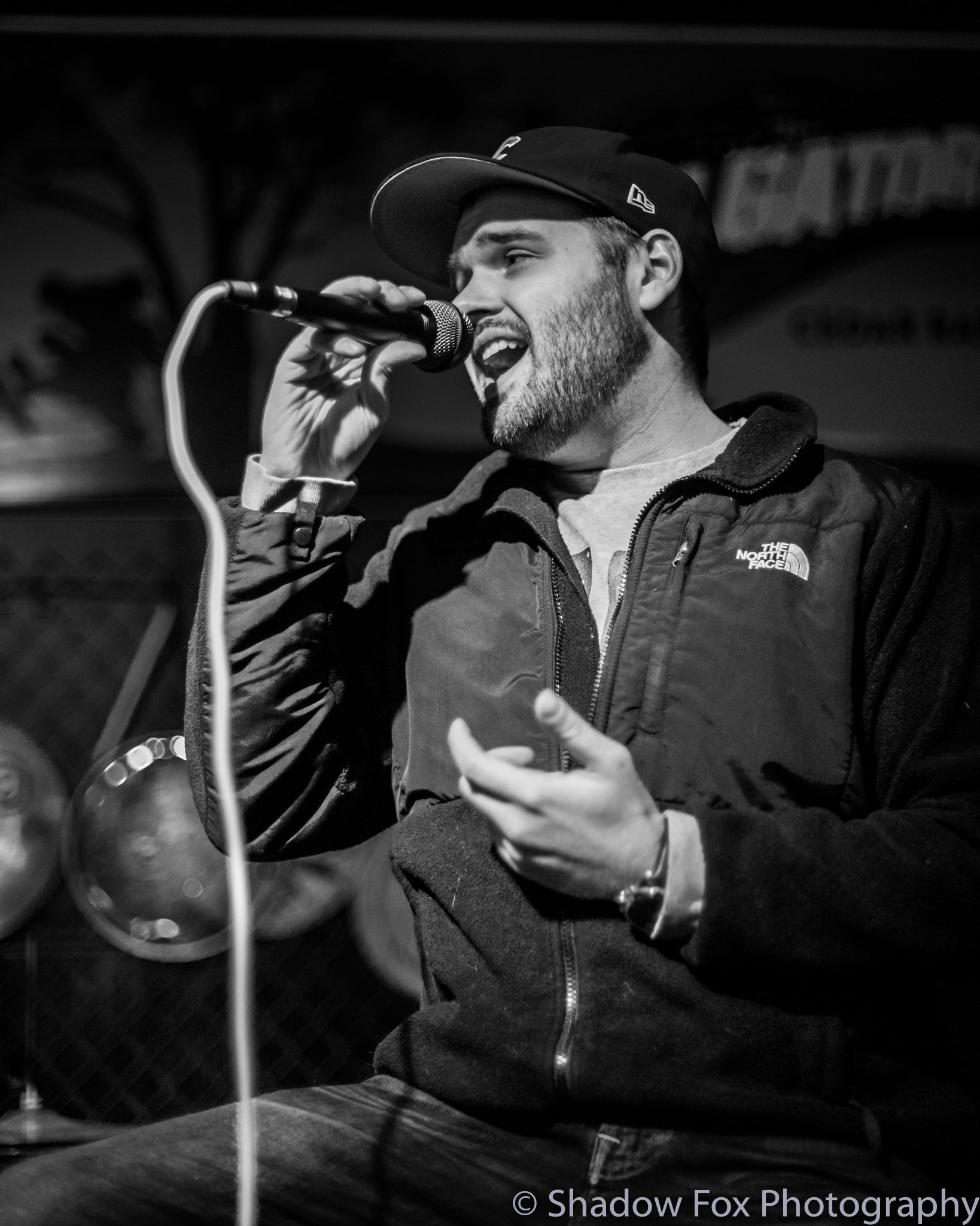 Open mic at Tailgators in Cedar Rapids, Iowa