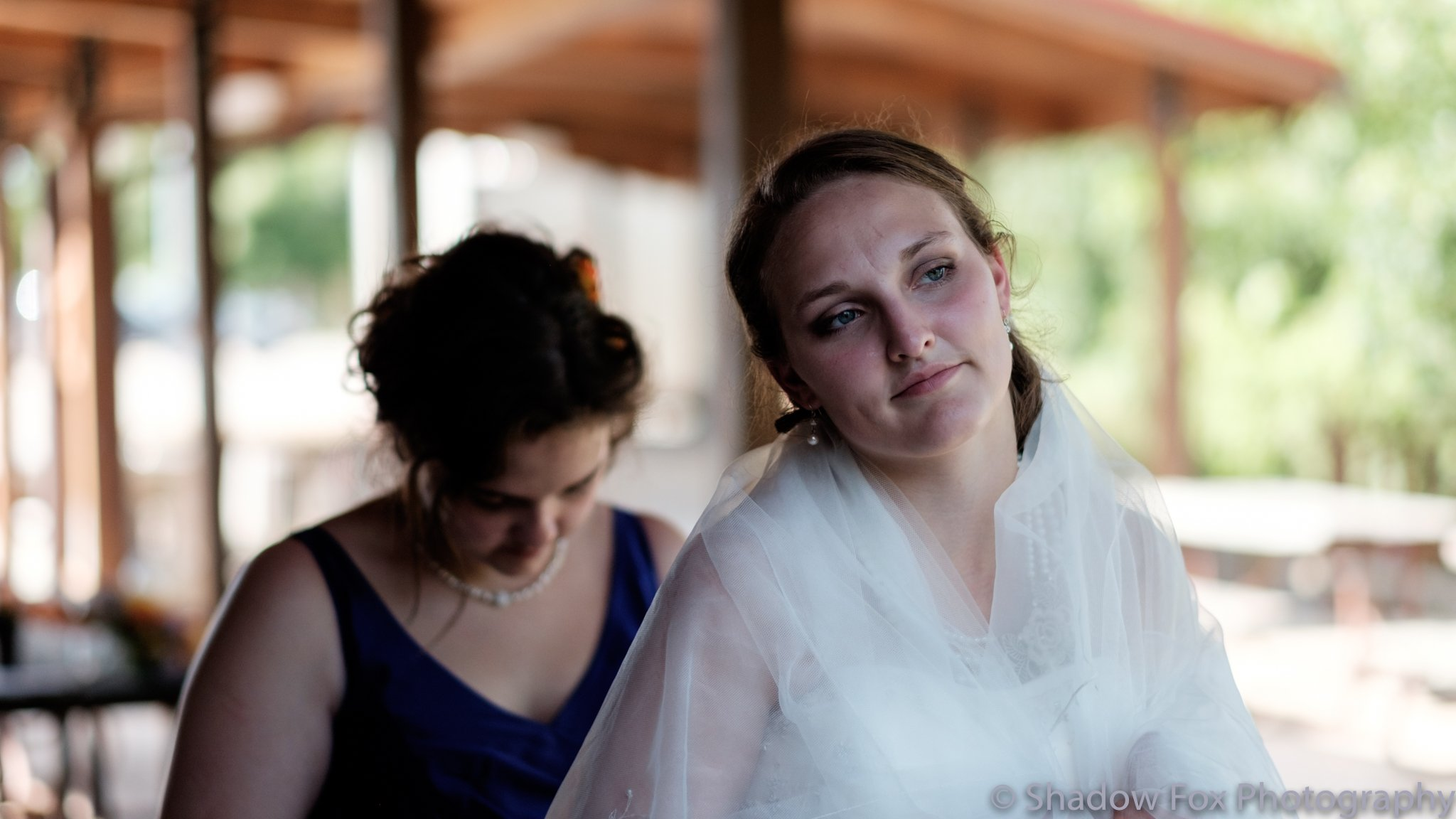 Photo of the bride getting ready before her wedding