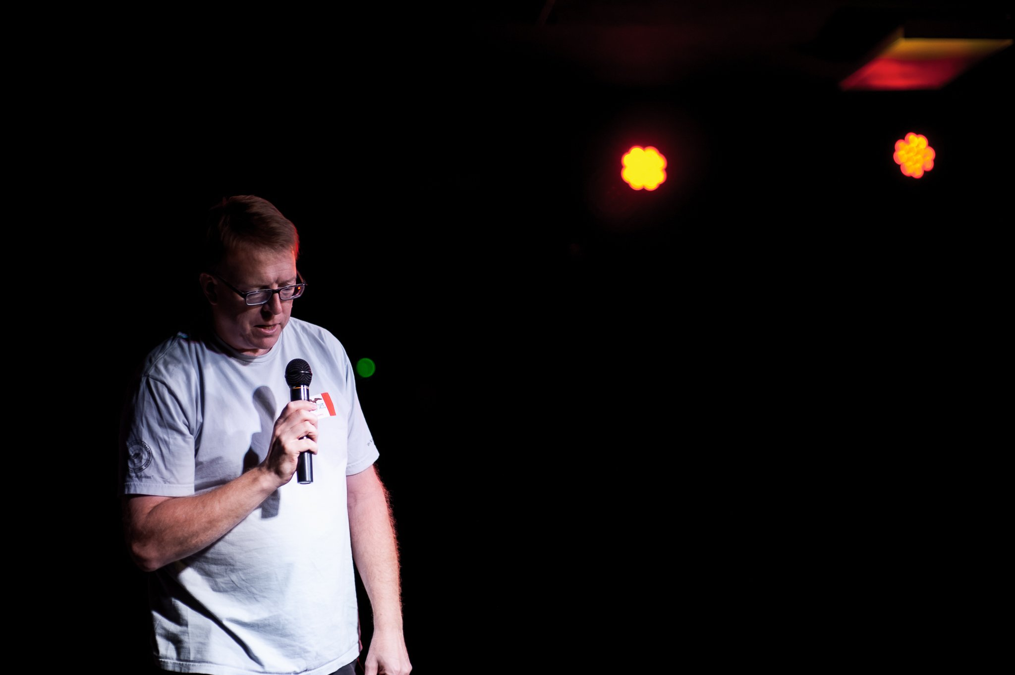 State Representative Rob Hogg at State Representative Liz Bennett's Celebrity Karaoke Night Fundraiser
