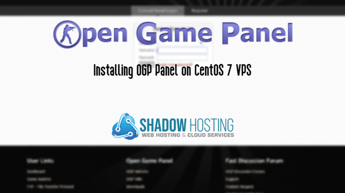 Install OGP Panel