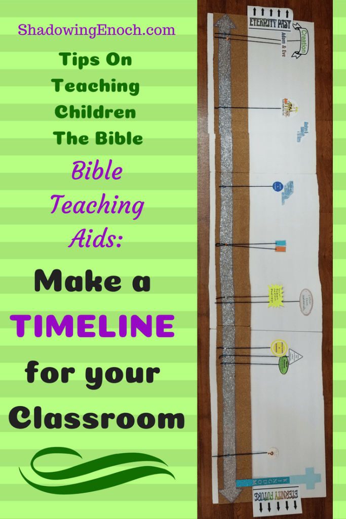 Teaching Children the Bible | Children's Church Ideas | Sunday School Ideas | Bible Visuals | Make a Timeline for your classroom | Tips for Bible Teaching