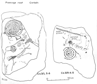 Left Corbel 3 (above orthostats L 5-6) and Right Corbel 3 (above orthostats R 4-5). After Clare O'Kelly.