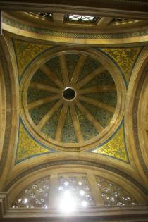 The beautiful ceiling of the Beer mausoleum. copyright Carole Tyrrell