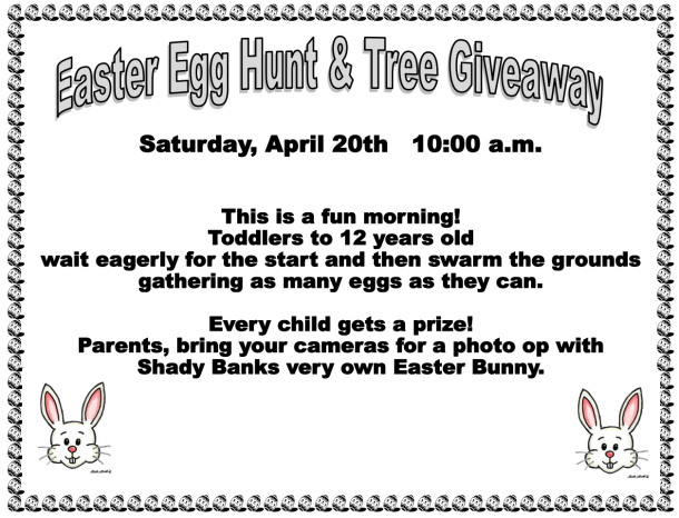 Easter Egg Hunt & Tree Giveaway