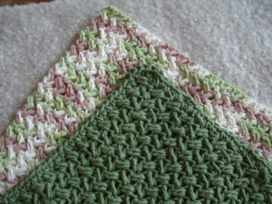 crochet dishcloth modified bean stitch