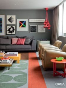 Gray color for living room