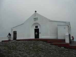 The church at the summit of Croagh Patrick.