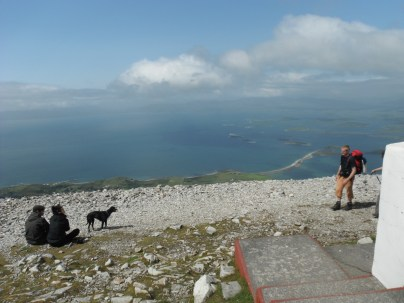 Clew Bay from the summit of Croagh Patrick.