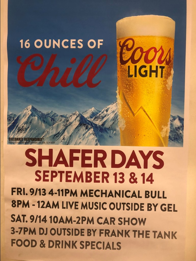Shafer Days Shafer Saloon