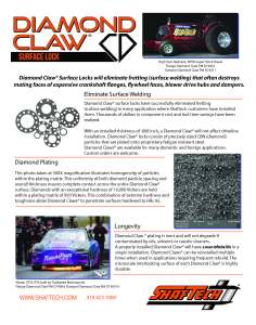 Diamond Claw® Info Back