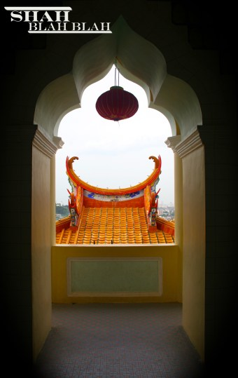 Beautiful doorway at Kek Lok Si, Southeast Asia's largest Buddhist temple, located in Penang.