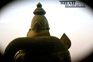 Massive Hindu shrine at the entrance of Batu Caves in Kuala Lumpur