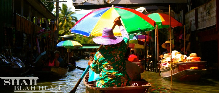 Floating market in Bangkok where produce, everyday essentials as well as souvenirs can be found.
