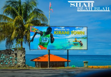 The sole Grenadian Olympic gold winner Kirani James's hometown of Gouyave is located in Western Grenada.