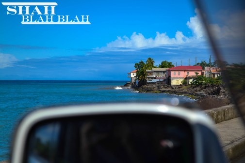 Admiring the western coast of Grenada.