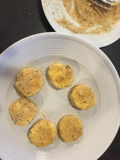Breadcrumbs and cheese