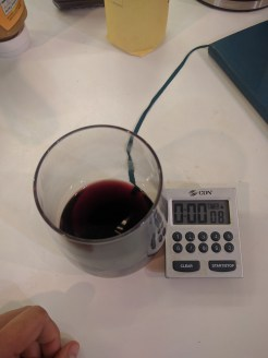 Start off with a timer and a glass of wine