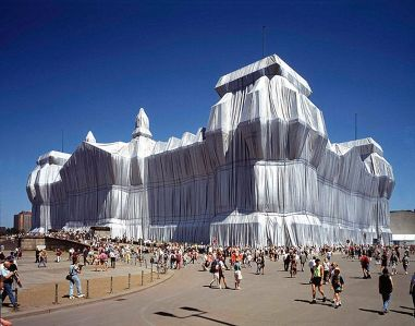 Wrapped Reichstag building, Berlin,1971-95