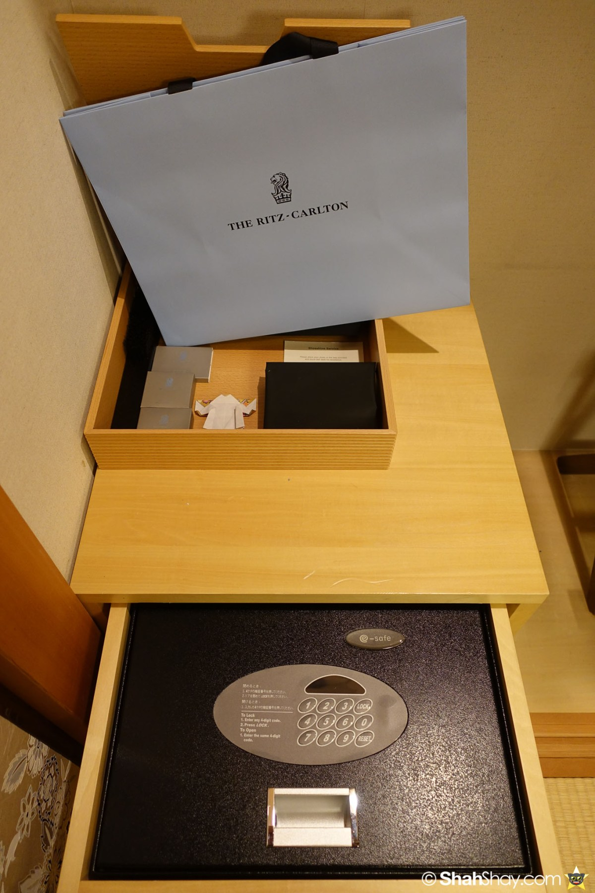 The Ritz-Carlton Tokyo Rooms - Modern Japanese Suite - Safe and Amenities