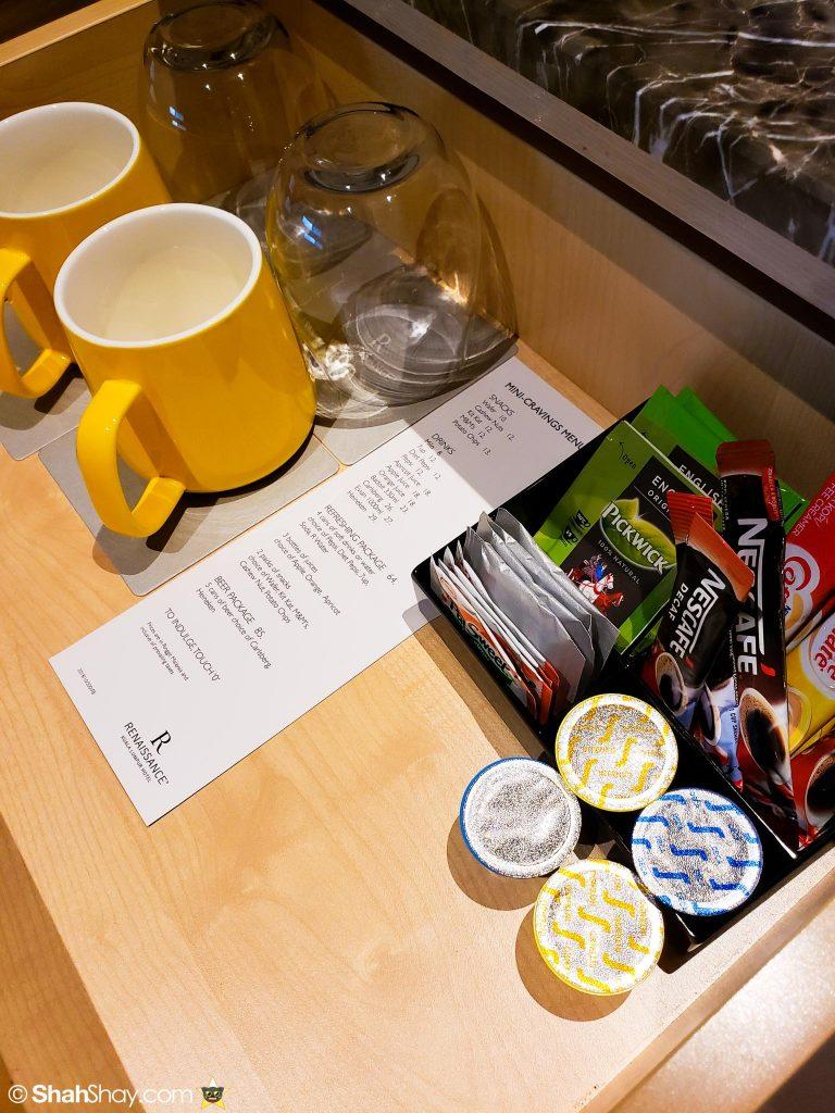 Renaissance Kuala Lumpur Executive Suite - coffee and teas
