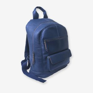 Damien-Blue-Leather-Backpac