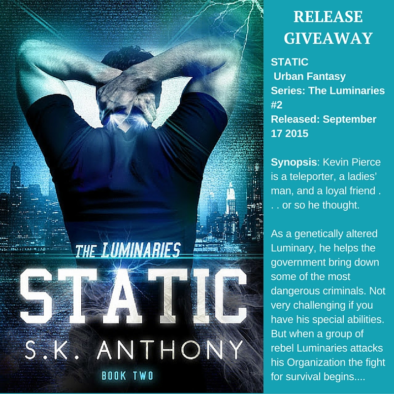 The Luminaries *2: STATIC #GIVEAWAY!  #UrbanFantasy