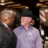 Shaie Williams for AGN Media. Lt. Colonel Allen B West with Randall Sims at the Texas Panhandle Lincoln-Reagan Day Dinner hosted by the local Republican party groups held at The Rex Baxter Building in Amarillo, TX on January 29, 2016