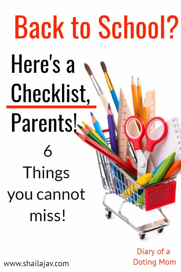BAck to school: A checklist for parents and students