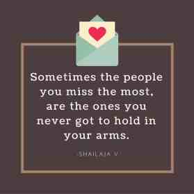 The people you miss