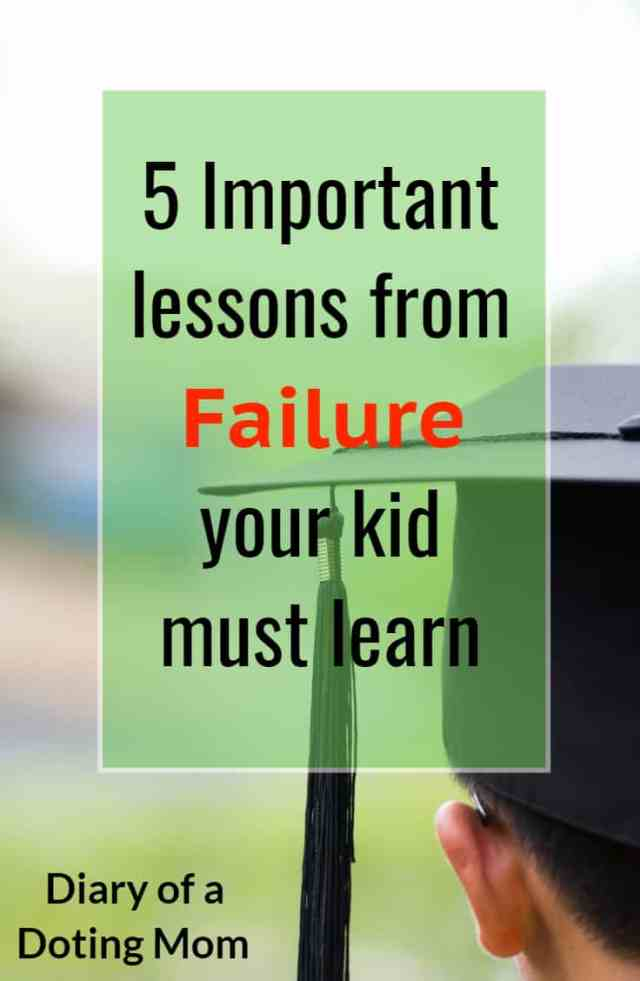 Do you let your kids fail? Or do you get worked up at the slightest indication of setbacks and failure? Failure is important for kids to learn, stumble and pick themselves up. Here are 5 reasons you should let your kids fail. #ParentingTips #Parenting #Education