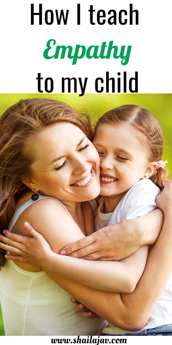 Mom and child hugging. How I teach empathy to my child using simple methods.
