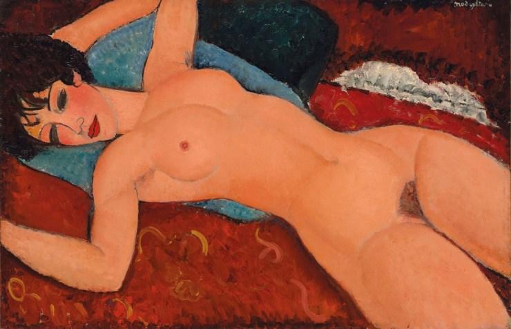 Amedeo Modigliani, Nu couché, (1917-1918) - Subastas de Arte