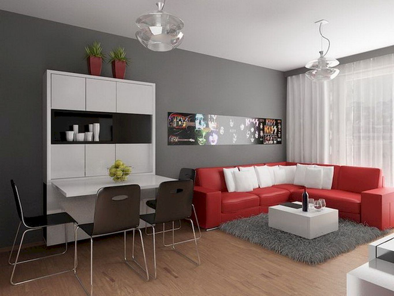 DIY Apartment Living Room Layout and Decor Part 5