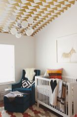DIY Statement Ceiling paint and wallpaper Part 12