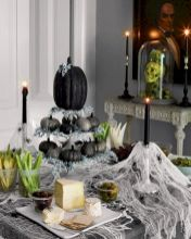 50+ Halloween Dining Table Decoration You Will Love - Image Gallery #halloweendecor #halloweenidea #halloweendiningtable #diningtabledecoration #diningtable #diyhomedecor