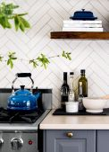 Herringbone Kitchen Backsplash for DIY decor Part 21