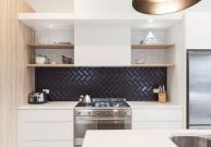 Herringbone Kitchen Backsplash for DIY decor Part 27