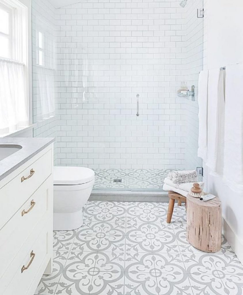 70+ Tiles Ideas for Small Bathroom - Get more Ideas in our gallery | #smallbathroom #bathroomdecoration #bathroomideas #bathroomtiles #bathroomdecor #homedecor (23)