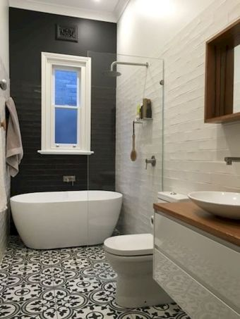 70+ Tiles Ideas for Small Bathroom - Get more Ideas in our gallery | #smallbathroom #bathroomdecoration #bathroomideas #bathroomtiles #bathroomdecor #homedecor (3)