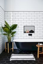 70+ Tiles Ideas for Small Bathroom - Get more Ideas in our gallery | #smallbathroom #bathroomdecoration #bathroomideas #bathroomtiles #bathroomdecor #homedecor (47)