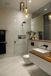 70+ Tiles Ideas for Small Bathroom - Get more Ideas in our gallery | #smallbathroom #bathroomdecoration #bathroomideas #bathroomtiles #bathroomdecor #homedecor (51)